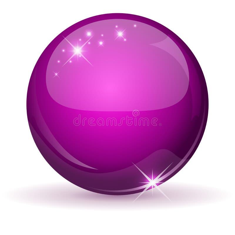 Esfera lustrosa cor-de-rosa   ilustração do vetor