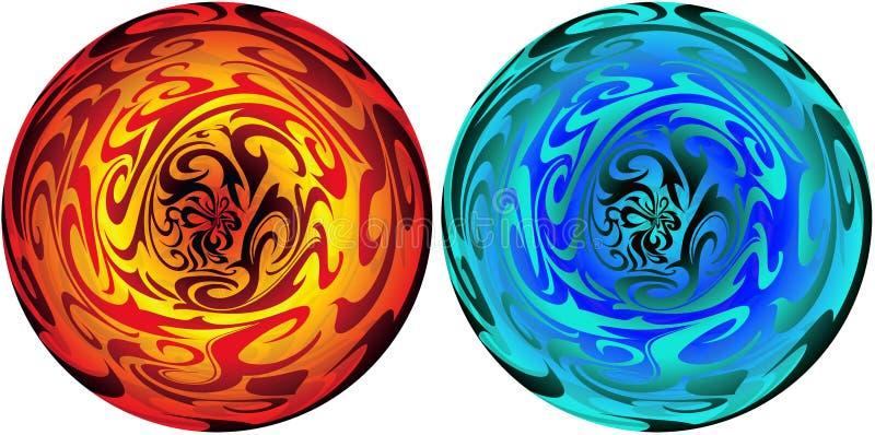 Esfera mágica stock de ilustración