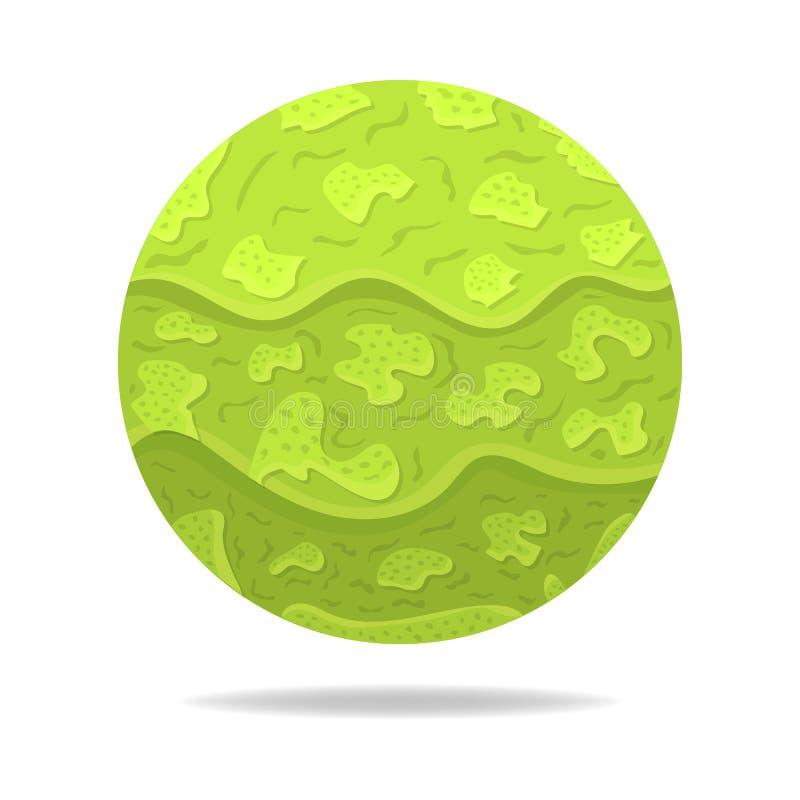 Esfera mágica do vetor com sombra Bola abstrata verde Efeito de papel Ilustra??o para seu projeto, Web do vetor ilustração stock