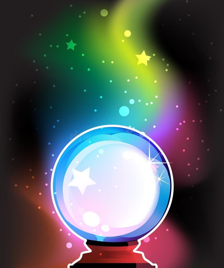 Esfera mágica para predições ilustração do vetor