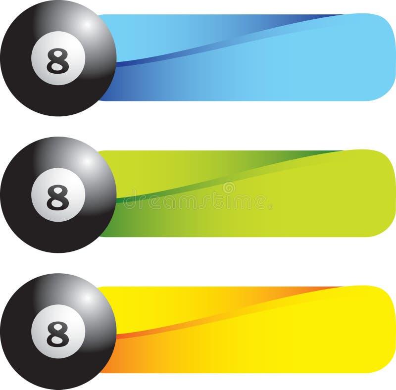 Esfera oito em abas coloridas ilustração stock