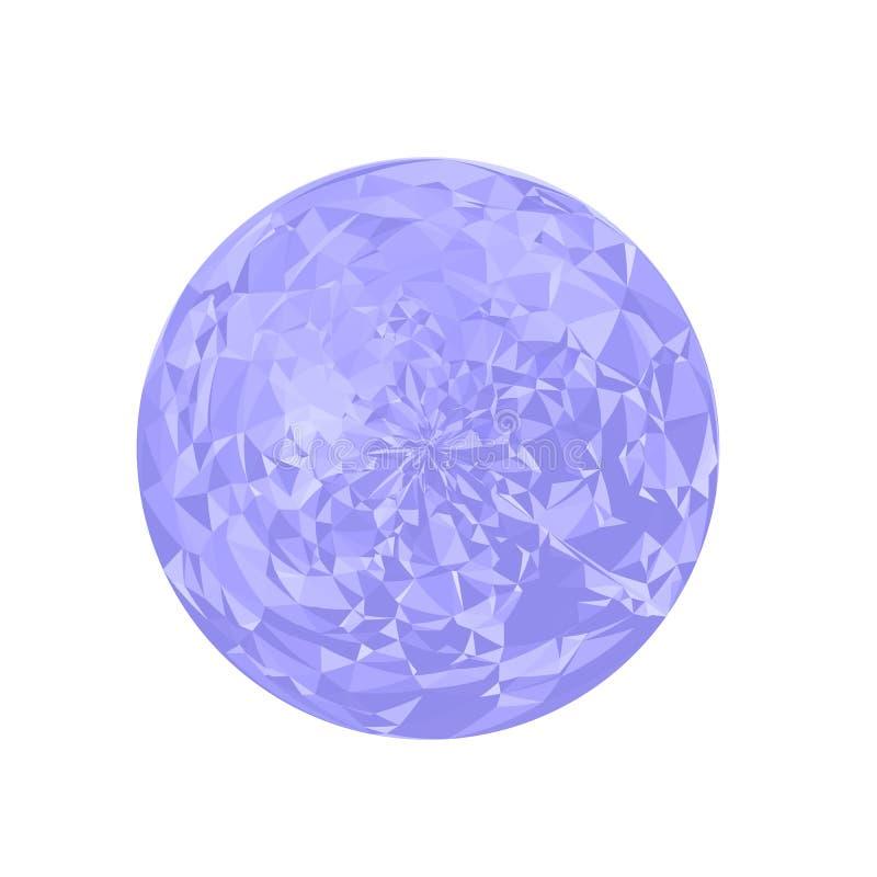 Esfera poligonal azul libre illustration