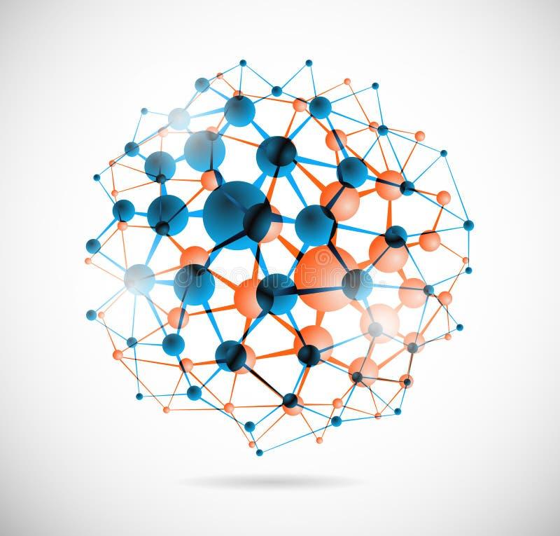 Esfera química ilustração stock