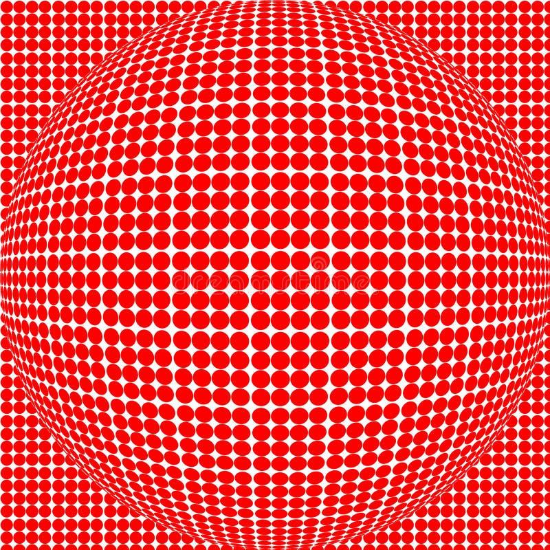 Esfera roja del punto imagenes de archivo