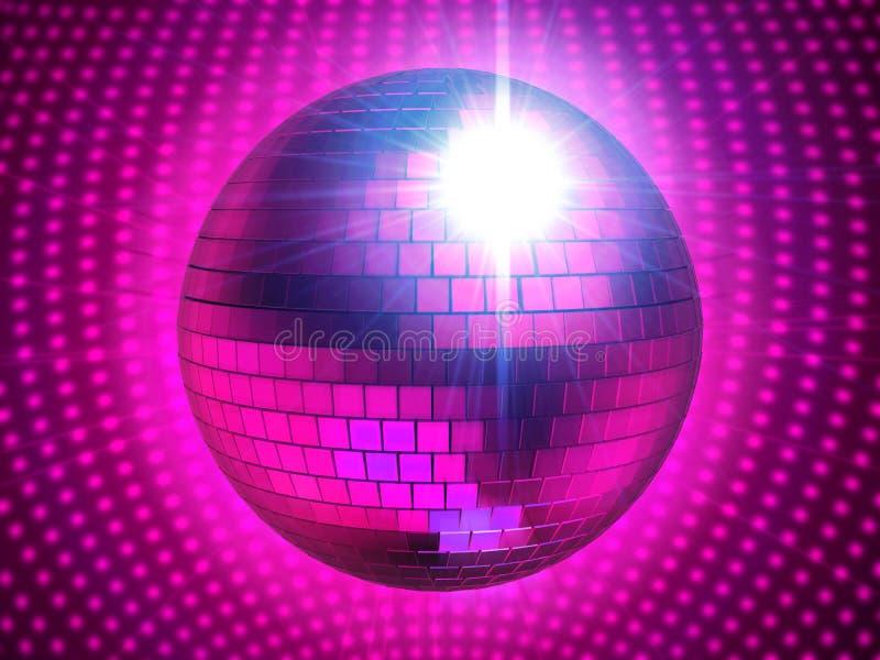Esfera rosada del disco ilustración del vector