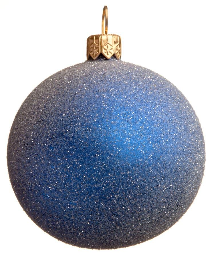 Esfera spangled azul do Natal imagem de stock royalty free