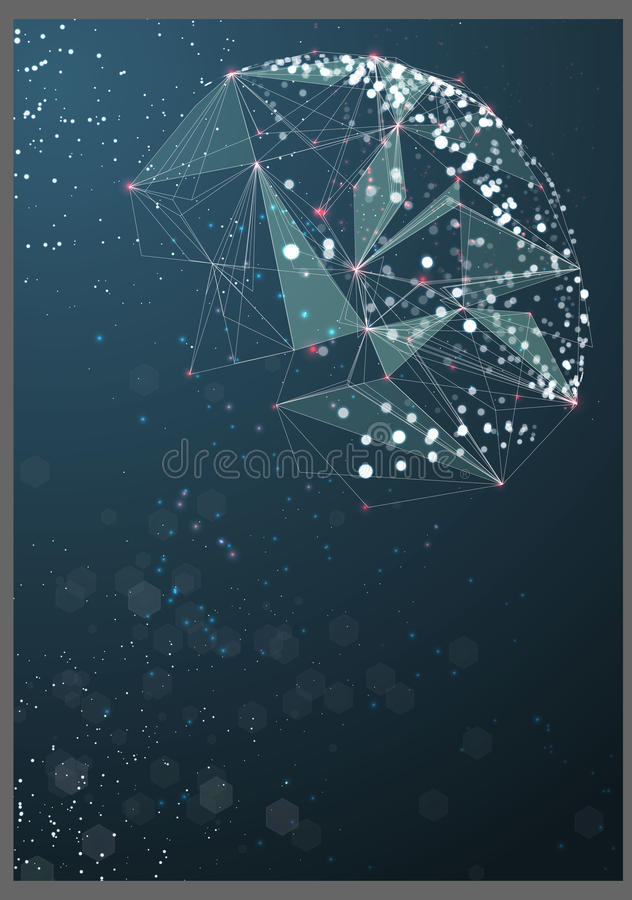 Esfera tecnológica del cartel abstracto libre illustration