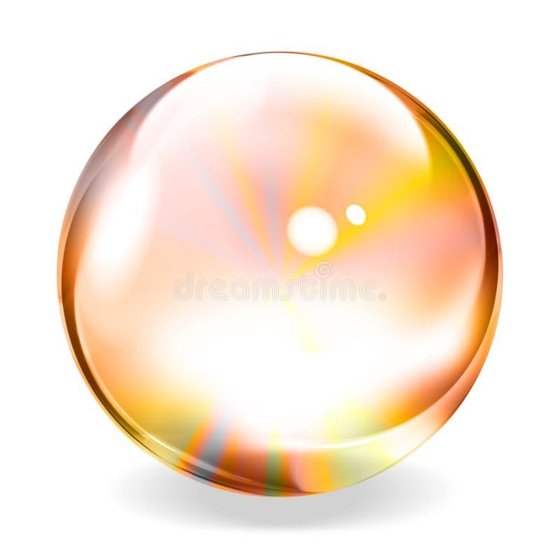 Esfera transparente ilustração royalty free