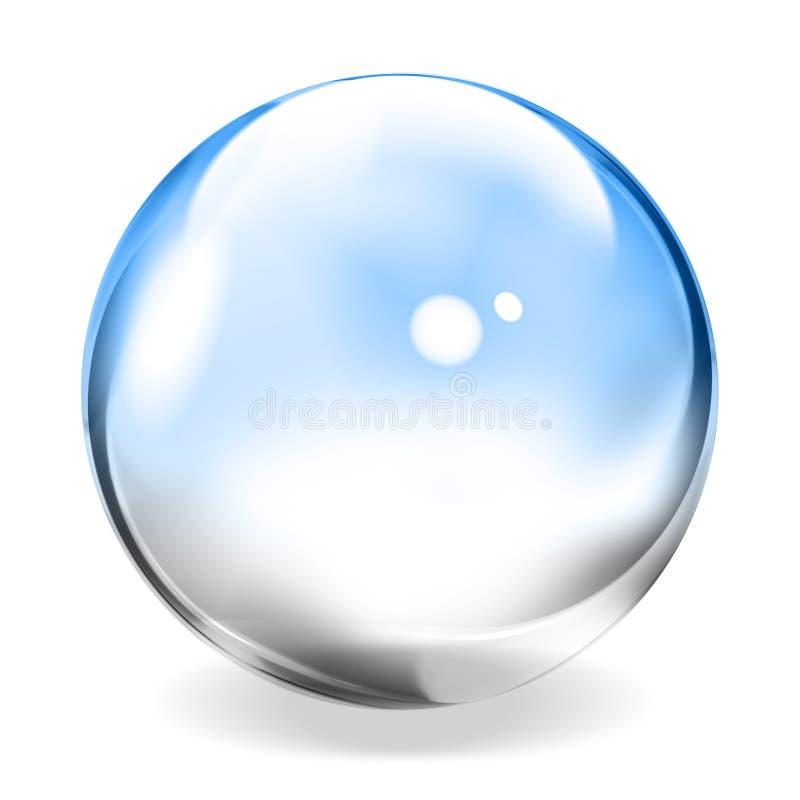 Esfera transparente ilustração do vetor