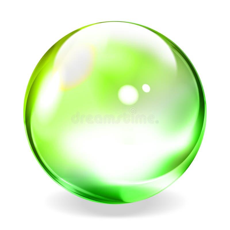 Esfera transparente ilustração stock