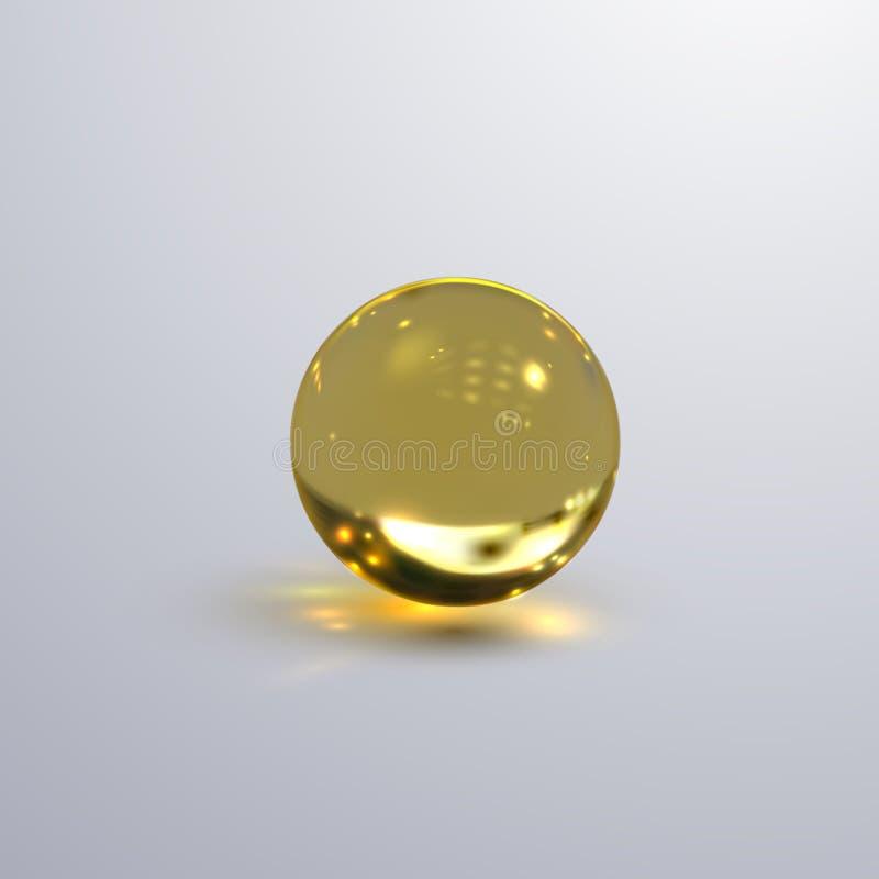 Esfera transparente lustrosa ilustração royalty free