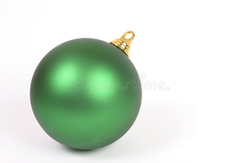 Esfera Unadorned do Natal fotografia de stock royalty free