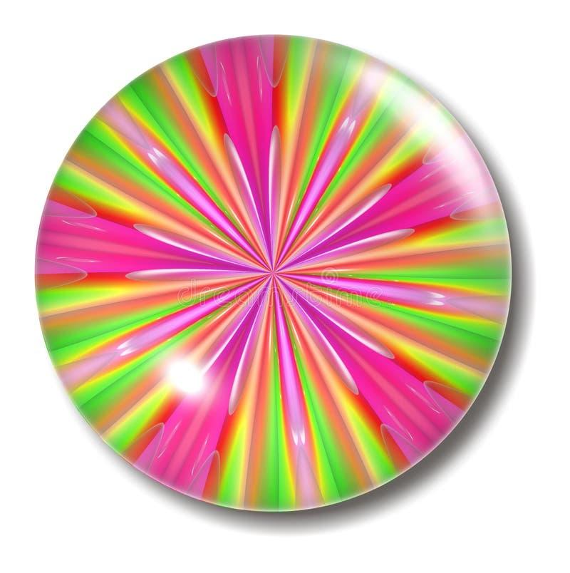 Esfera verde cor-de-rosa da tecla ilustração do vetor