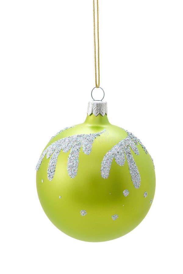 Esfera verde do Natal imagem de stock