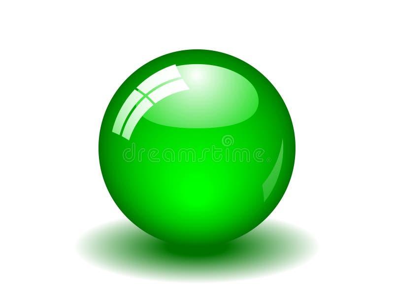 Esfera verde lustrosa ilustração stock