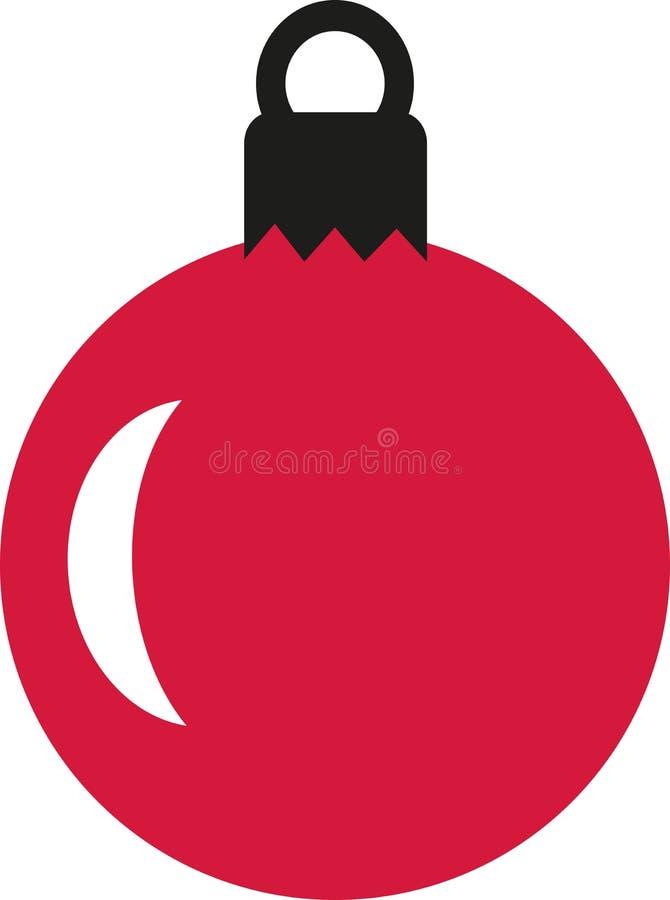 Esfera vermelha da árvore de Natal ilustração stock