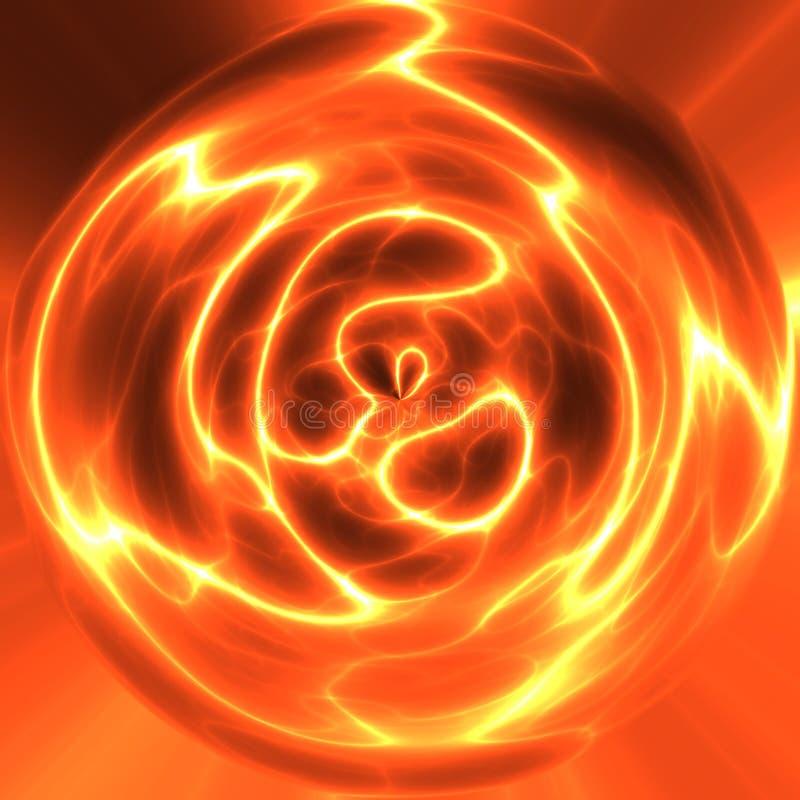 Esfera vermelha da eletricidade ilustração stock