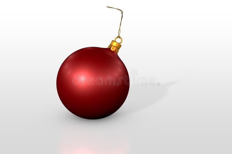 Esfera vermelha do Natal ilustração stock