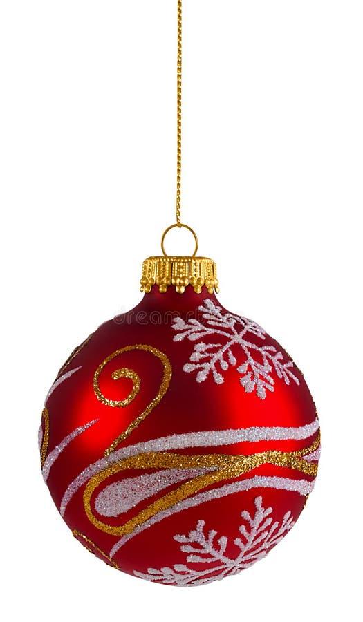 Download Esfera Vermelha Do Natal Do Glitter Foto de Stock - Imagem de ornament, escasso: 80100690