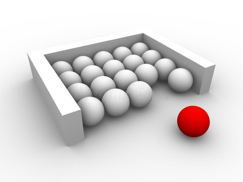 Esfera vermelha isolada ilustração do vetor