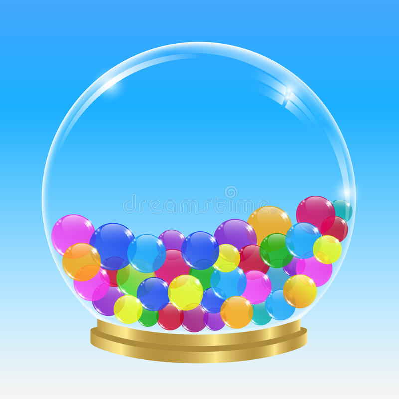 Esfera y burbujas imágenes de archivo libres de regalías