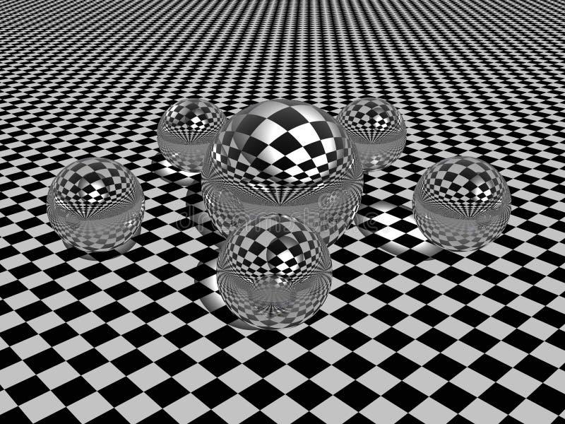 Esferas. ilustração stock