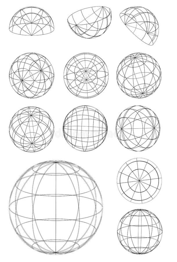 Esferas ilustración del vector