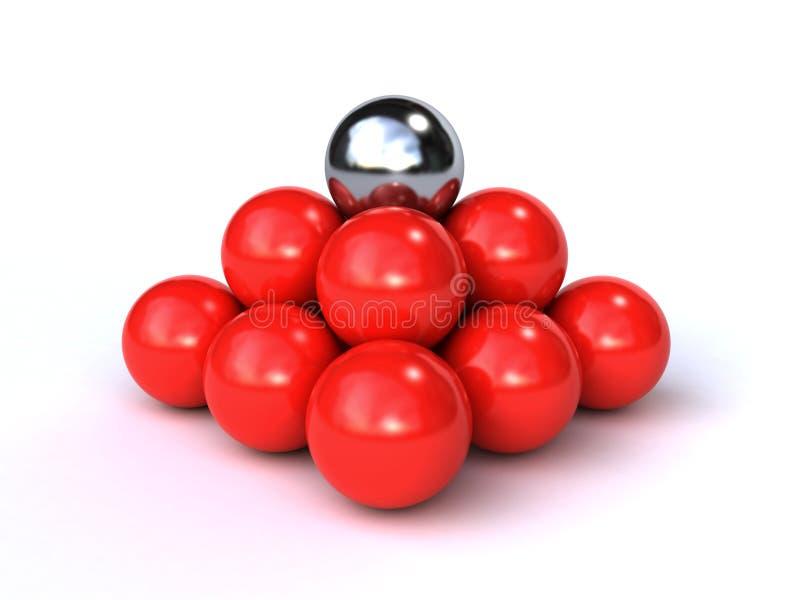 esferas 3d ilustração do vetor