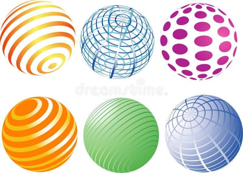 Esferas ilustração royalty free