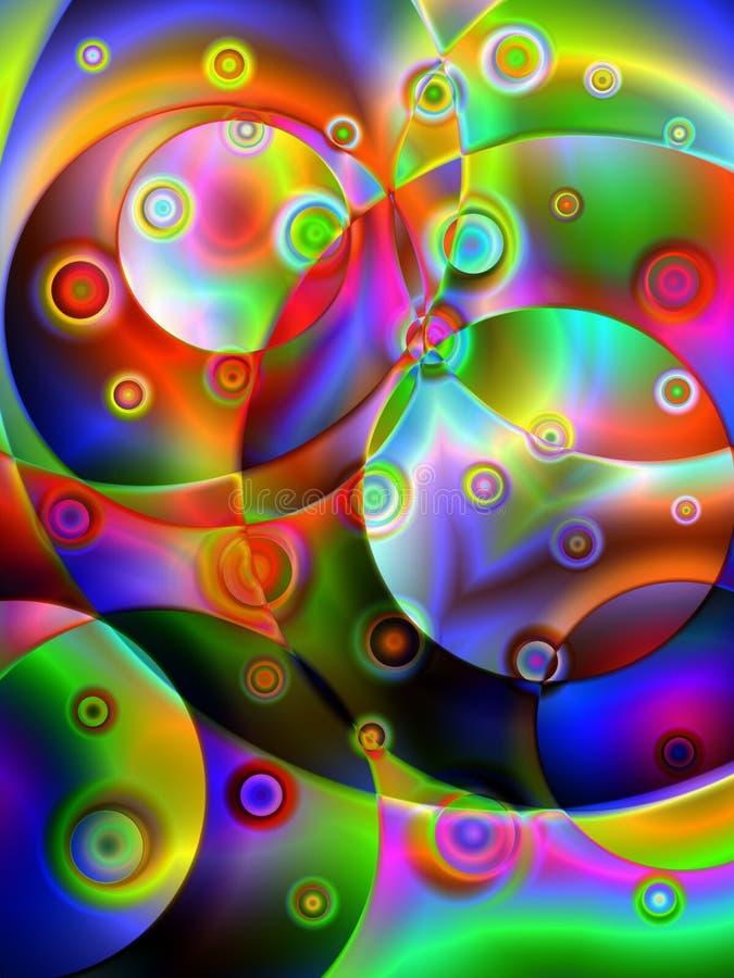 Esferas 9 da cor ilustração royalty free