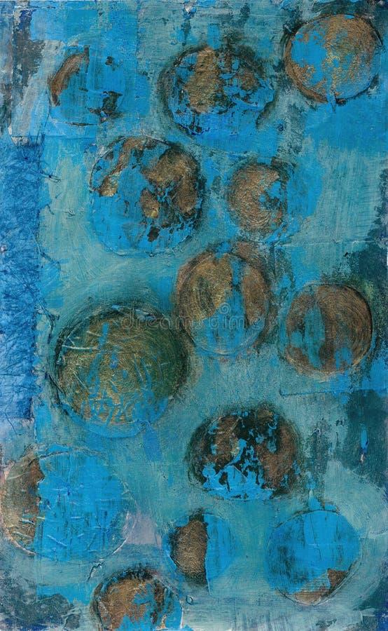Esferas abstratas do ouro ilustração do vetor