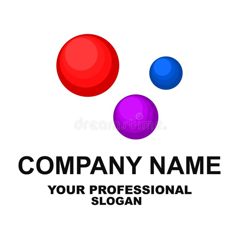 Esferas abstratas Logotipo creativo molde Vetor ilustração do vetor