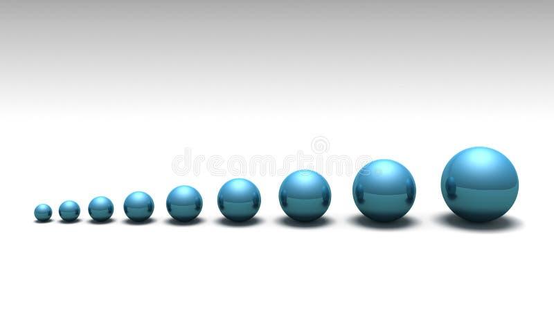 Esferas alineadas foto de archivo
