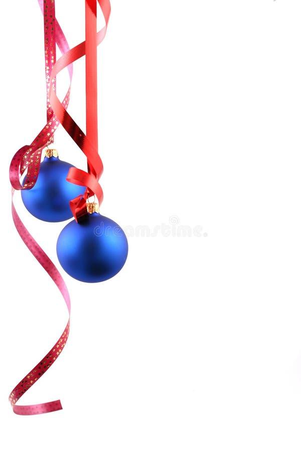 Esferas azuis - decoração do Natal fotos de stock