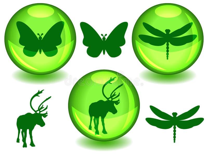 Esferas bio o del eco stock de ilustración