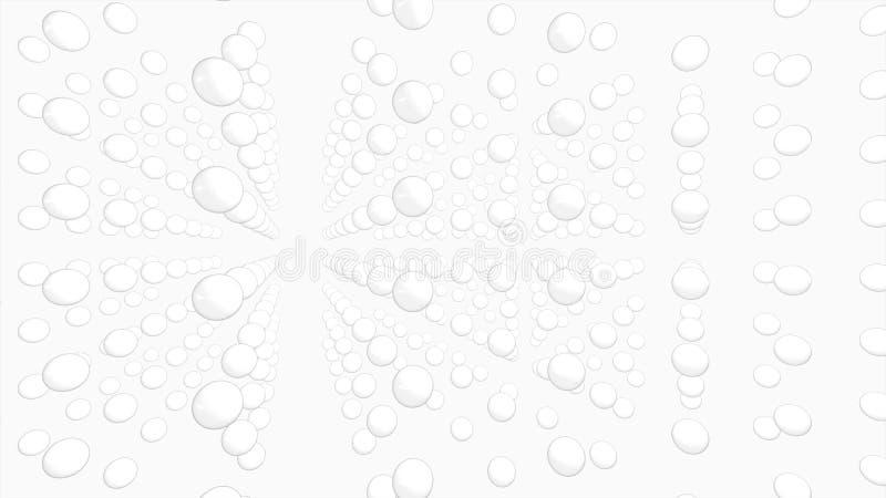 Esferas blancas 3d imagenes de archivo