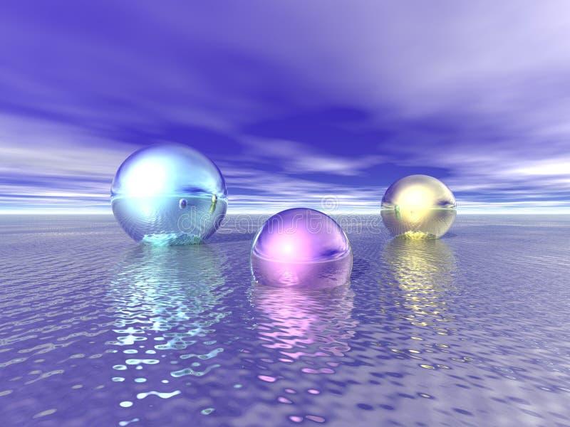 Esferas brilhantes ilustração stock