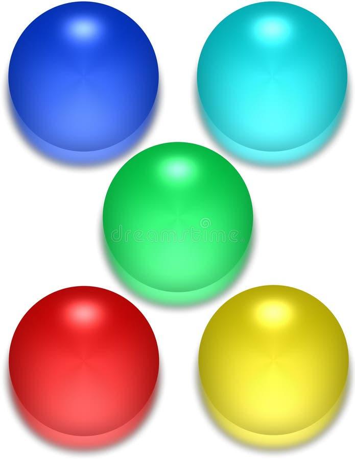 Esferas brillantes stock de ilustración