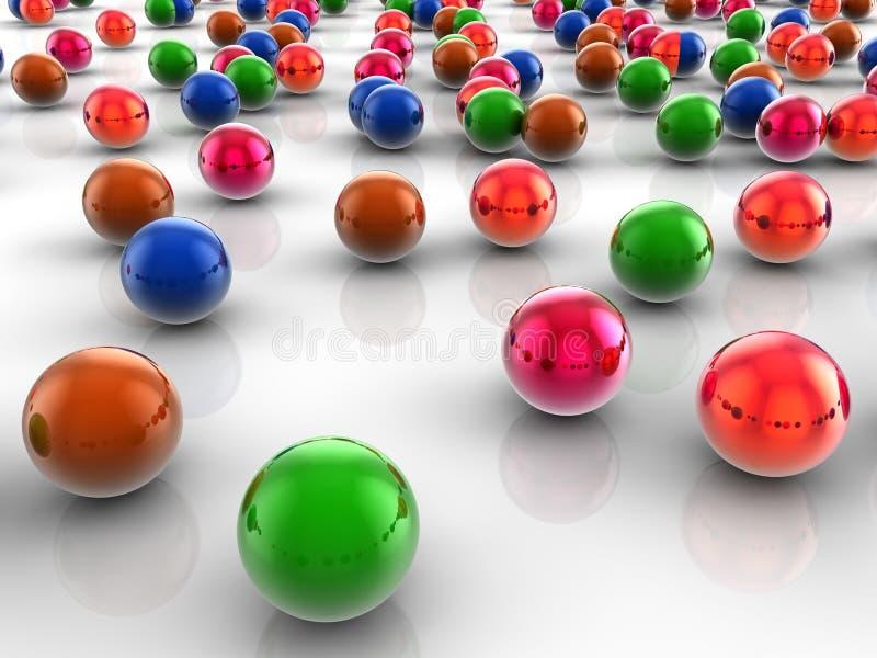 Esferas coloridas fotos de archivo libres de regalías