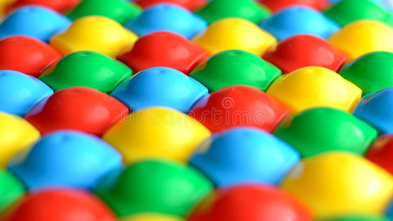 Esferas coloridas Brinquedos das crianças fotos de stock royalty free