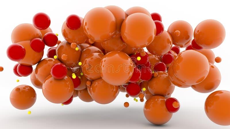 esferas coloridas 3D stock de ilustración