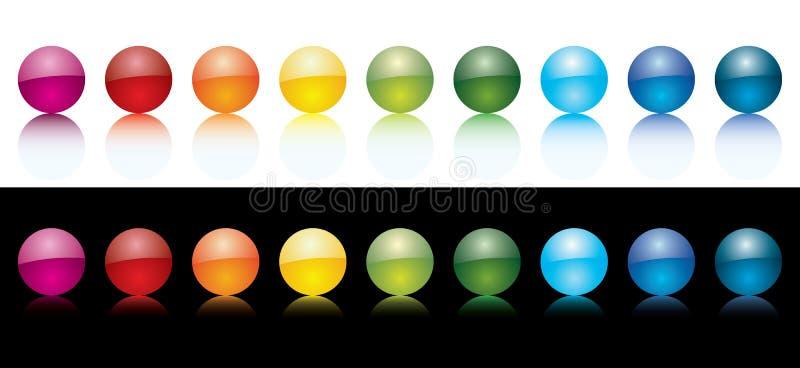 Esferas coloridas do vetor ilustração royalty free