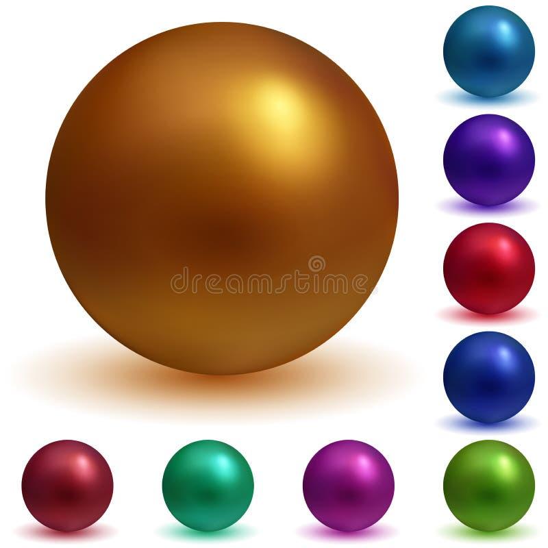 Esferas coloridos ilustração stock