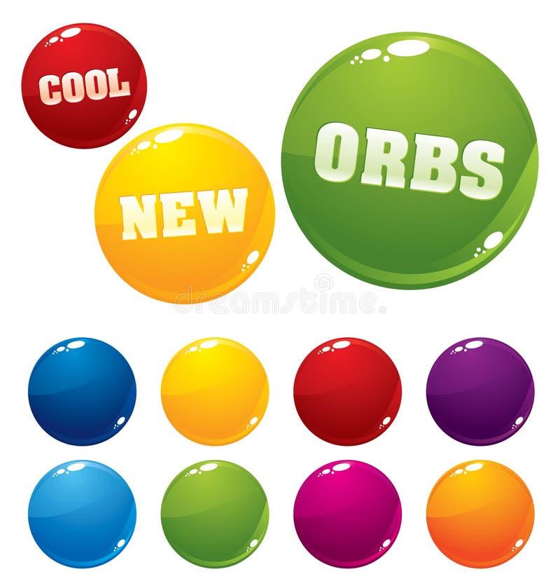 Download Esferas coloridos do vetor ilustração do vetor. Ilustração de símbolo - 12803088