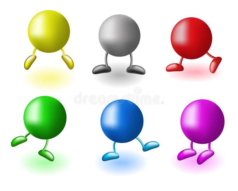 Esferas com pés ilustração stock