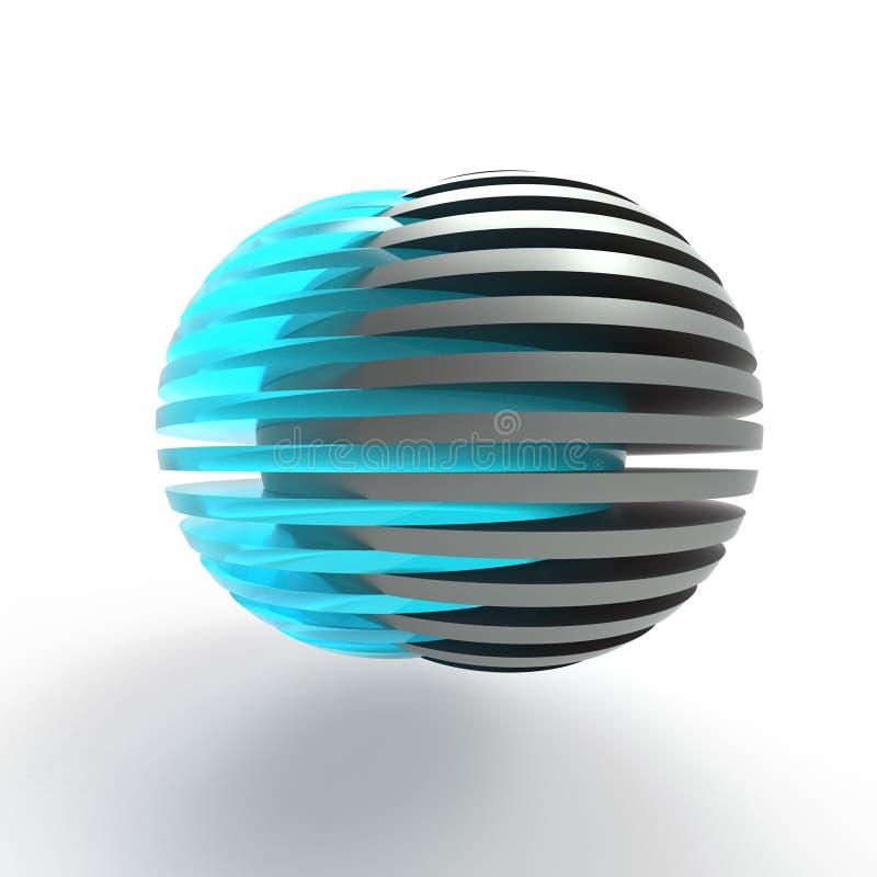 Esferas cortadas de conexão ilustração royalty free