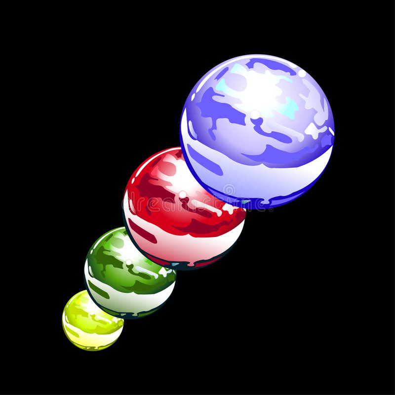 Esferas da água ilustração stock