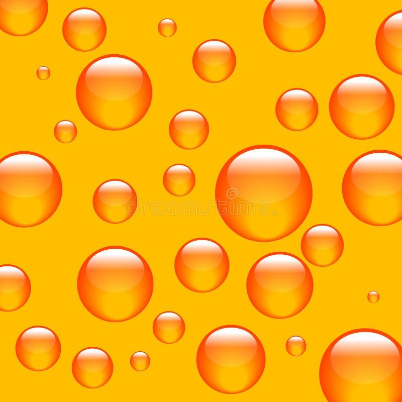 Esferas da laranja do fundo ilustração do vetor