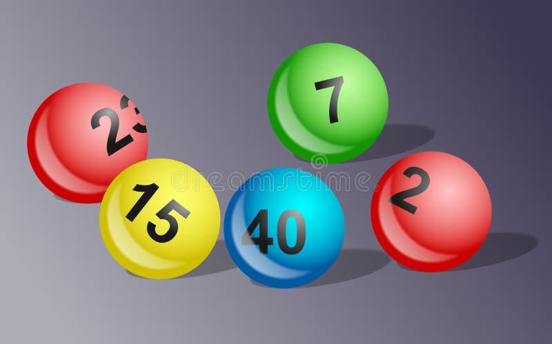 Esferas da lotaria fotografia de stock royalty free