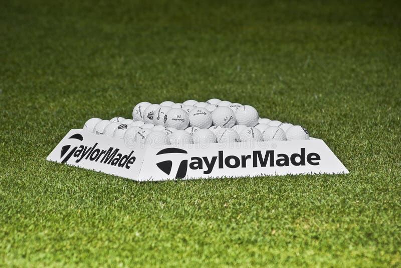 Esferas da prática - Taylormade imagem de stock